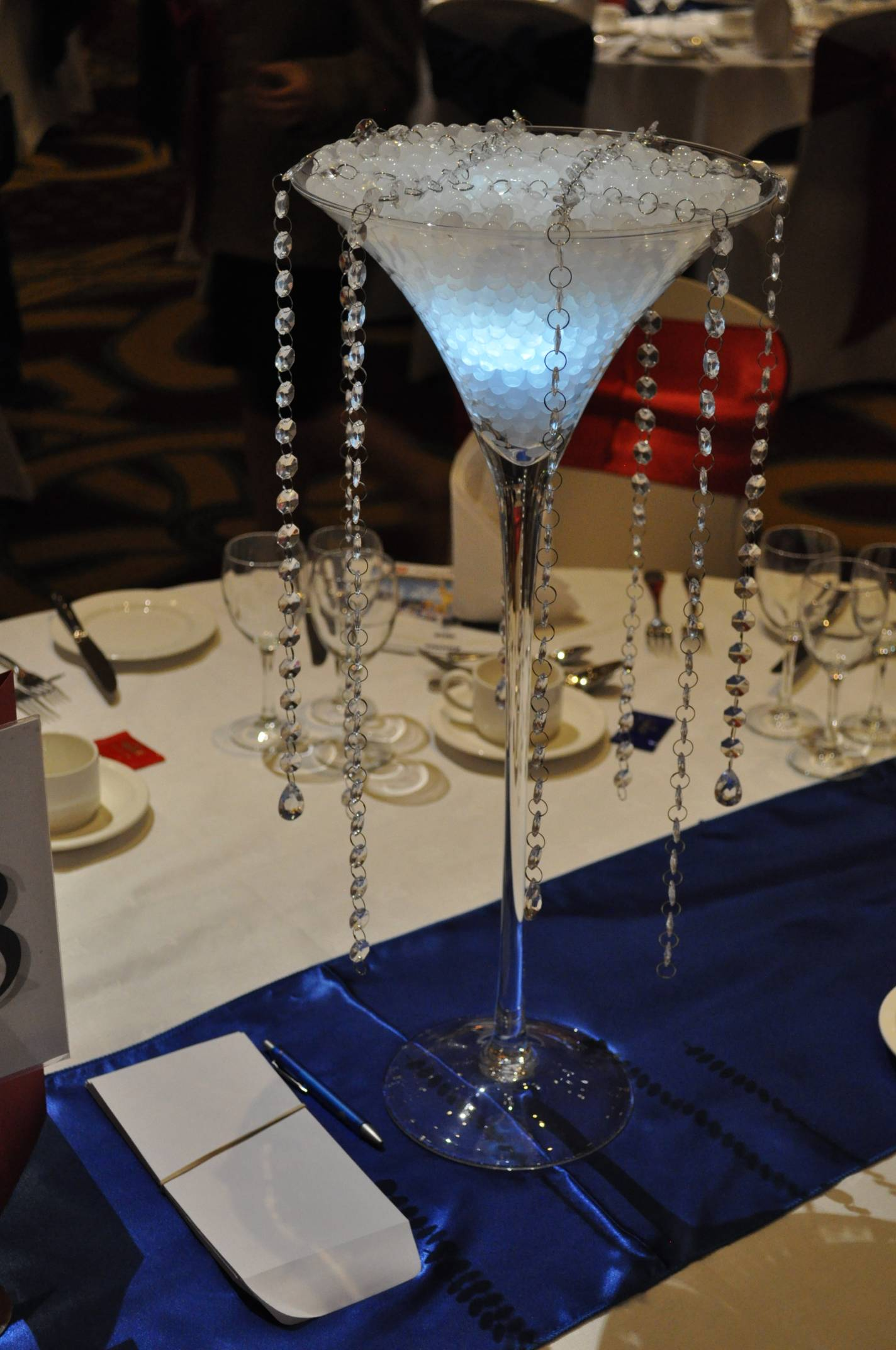 Crystal centrepiece